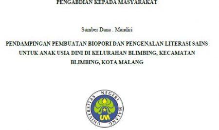 Kegiatan PkM Biopori PS Bioteknologi