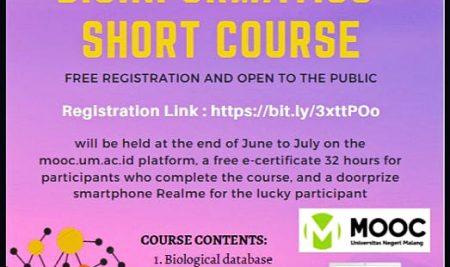 FMIPA UM Selenggarakan Online Course Bioinformatika Gratis
